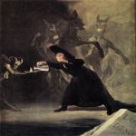 Francisco de Goya (1746-1828)  The Bewitched Man  Oil on canvas, 1798  16 5/8 x 12 1/8 inches (42.5 x 30.8 cm)  National Gallery, London, England